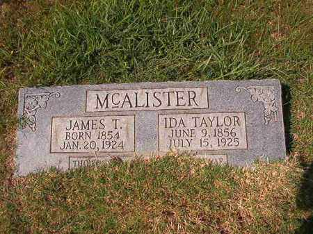 MCALISTER, JAMES T - Dallas County, Arkansas | JAMES T MCALISTER - Arkansas Gravestone Photos
