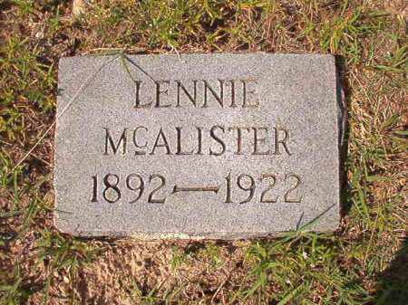 MCALISTER, LENNIE - Dallas County, Arkansas | LENNIE MCALISTER - Arkansas Gravestone Photos