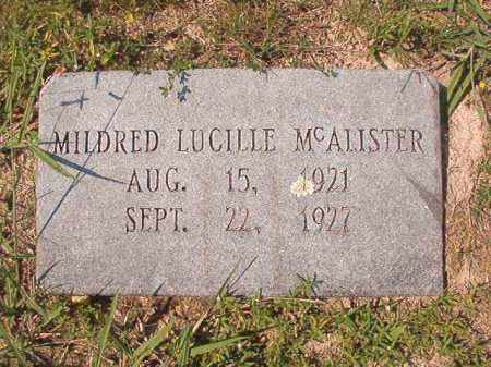MCALISTER, MILDRED LUCILLE - Dallas County, Arkansas | MILDRED LUCILLE MCALISTER - Arkansas Gravestone Photos