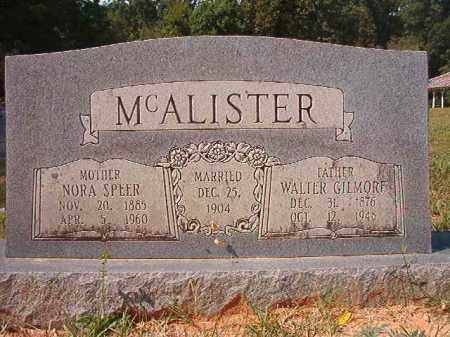 MCALISTER, NORA - Dallas County, Arkansas | NORA MCALISTER - Arkansas Gravestone Photos