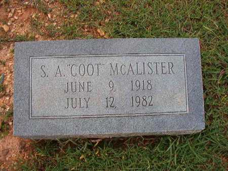 "MCALISTER, S A ""COOT"" - Dallas County, Arkansas 