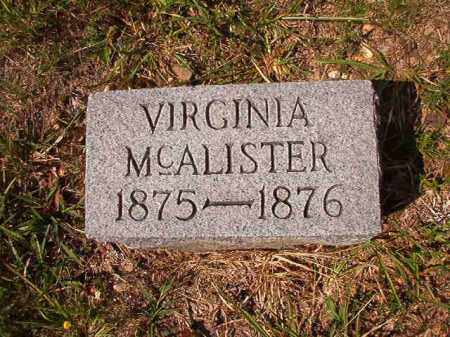 MCALISTER, VIRGINIA - Dallas County, Arkansas | VIRGINIA MCALISTER - Arkansas Gravestone Photos