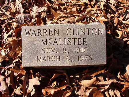 MCALISTER, WARREN CLINTON - Dallas County, Arkansas | WARREN CLINTON MCALISTER - Arkansas Gravestone Photos