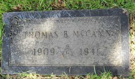 MCCANN, THOMAS B - Dallas County, Arkansas | THOMAS B MCCANN - Arkansas Gravestone Photos