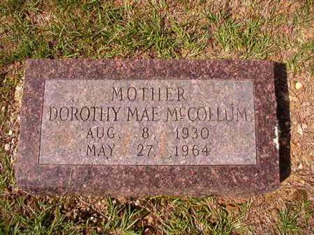 MCCOLLUM, DOROTHY MAE - Dallas County, Arkansas | DOROTHY MAE MCCOLLUM - Arkansas Gravestone Photos