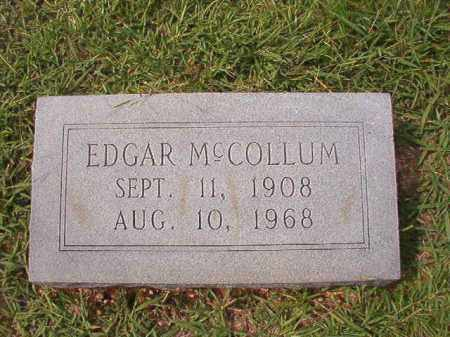 MCCOLLUM, EDGAR - Dallas County, Arkansas | EDGAR MCCOLLUM - Arkansas Gravestone Photos
