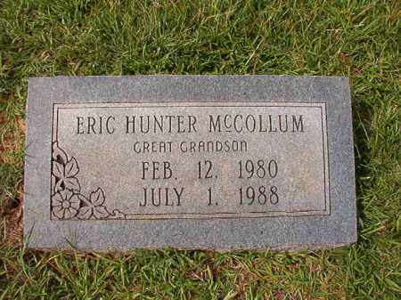 MCCOLLUM, ERIC HUNTER - Dallas County, Arkansas | ERIC HUNTER MCCOLLUM - Arkansas Gravestone Photos