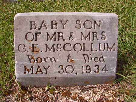 MCCOLLUM, INFANT SON - Dallas County, Arkansas | INFANT SON MCCOLLUM - Arkansas Gravestone Photos