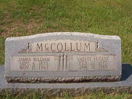 MCCOLLUM, JAMES WILLIAM - Dallas County, Arkansas | JAMES WILLIAM MCCOLLUM - Arkansas Gravestone Photos