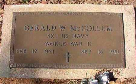 MCCOLLUM (VETERAN WWII), GERALD W - Dallas County, Arkansas | GERALD W MCCOLLUM (VETERAN WWII) - Arkansas Gravestone Photos
