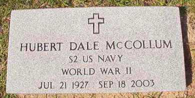 MCCOLLUM (VETERAN WWII), HUBERT DALE - Dallas County, Arkansas | HUBERT DALE MCCOLLUM (VETERAN WWII) - Arkansas Gravestone Photos