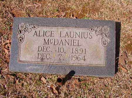 MCDANIEL, ALICE - Dallas County, Arkansas | ALICE MCDANIEL - Arkansas Gravestone Photos