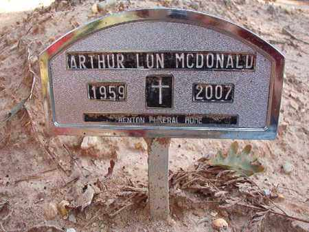 MCDONALD (OBIT), ARTHUR LON - Dallas County, Arkansas | ARTHUR LON MCDONALD (OBIT) - Arkansas Gravestone Photos