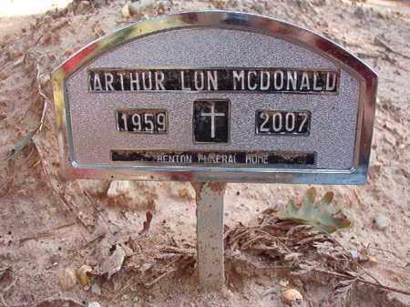 MCDONALD, ARTHUR LON (OBIT) - Dallas County, Arkansas   ARTHUR LON (OBIT) MCDONALD - Arkansas Gravestone Photos