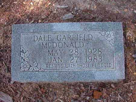 MCDONALD, DALE GARFIELD - Dallas County, Arkansas | DALE GARFIELD MCDONALD - Arkansas Gravestone Photos