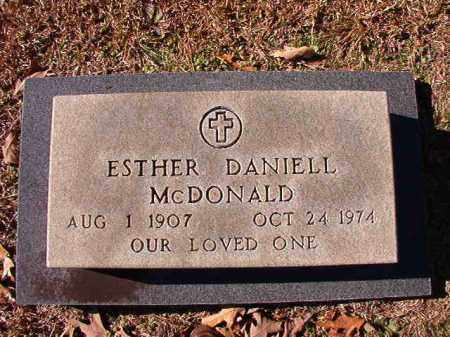 DANIELL MCDONALD, ESTHER - Dallas County, Arkansas | ESTHER DANIELL MCDONALD - Arkansas Gravestone Photos