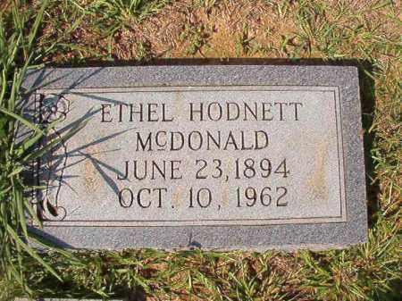 HODNETT MCDONALD, ETHEL - Dallas County, Arkansas | ETHEL HODNETT MCDONALD - Arkansas Gravestone Photos