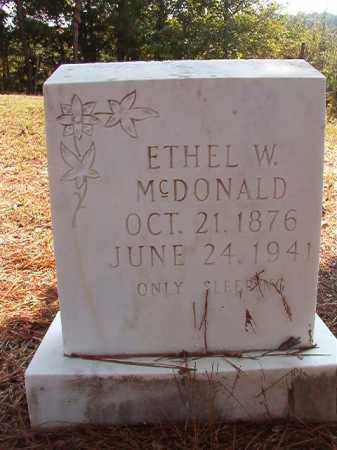 MCDONALD, ETHEL W - Dallas County, Arkansas | ETHEL W MCDONALD - Arkansas Gravestone Photos