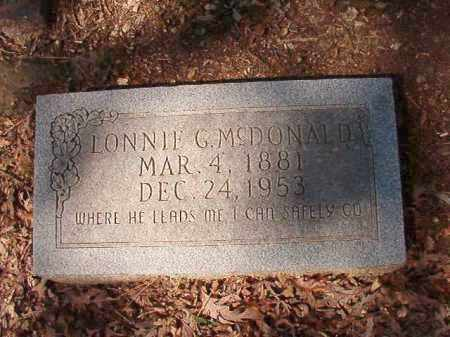 MCDONALD, LONNIE G - Dallas County, Arkansas | LONNIE G MCDONALD - Arkansas Gravestone Photos