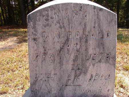 MCDONALD, MARY - Dallas County, Arkansas | MARY MCDONALD - Arkansas Gravestone Photos