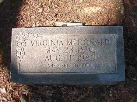 MCDONALD, VIRGINIA - Dallas County, Arkansas | VIRGINIA MCDONALD - Arkansas Gravestone Photos