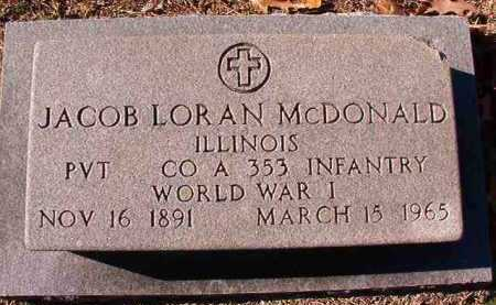 MCDONALD (VETERAN WWI), JACOB LORAN - Dallas County, Arkansas | JACOB LORAN MCDONALD (VETERAN WWI) - Arkansas Gravestone Photos