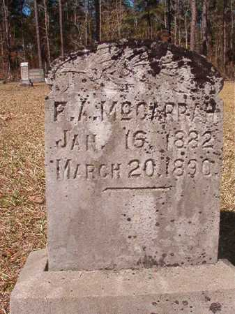 MCGARRAH, F A - Dallas County, Arkansas | F A MCGARRAH - Arkansas Gravestone Photos
