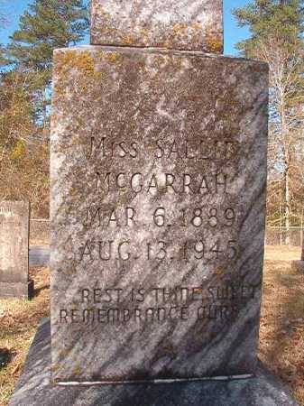 MCGARRAH, MISS, SALLIE - Dallas County, Arkansas | SALLIE MCGARRAH, MISS - Arkansas Gravestone Photos