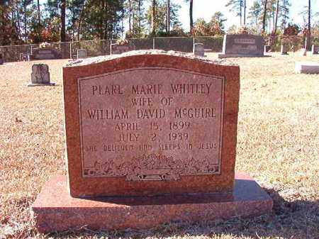 WHITLEY MCGUIRE, PEARL MARIE - Dallas County, Arkansas | PEARL MARIE WHITLEY MCGUIRE - Arkansas Gravestone Photos