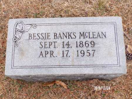 BANKS MCLEAN, BESSIE - Dallas County, Arkansas | BESSIE BANKS MCLEAN - Arkansas Gravestone Photos