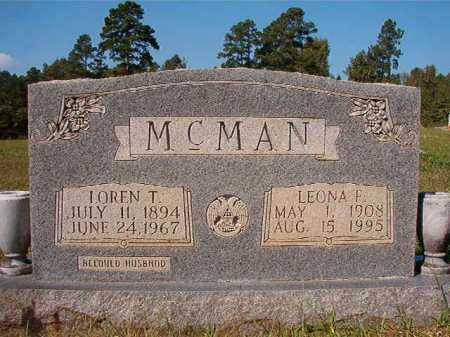 MCMAN, LEONA F - Dallas County, Arkansas | LEONA F MCMAN - Arkansas Gravestone Photos
