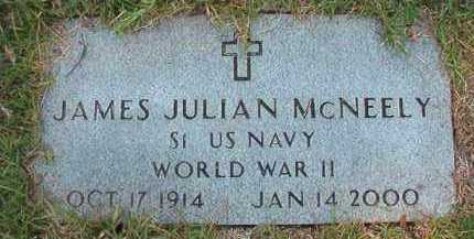 MCNEELY (VETERAN WWII), JAMES JULIAN - Dallas County, Arkansas | JAMES JULIAN MCNEELY (VETERAN WWII) - Arkansas Gravestone Photos