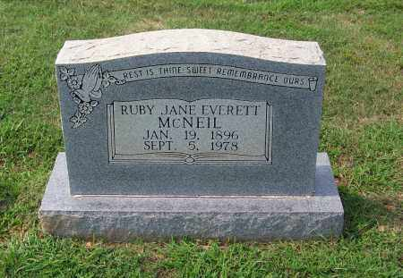EVERETT MCNEIL, RUBY JANE - Dallas County, Arkansas | RUBY JANE EVERETT MCNEIL - Arkansas Gravestone Photos