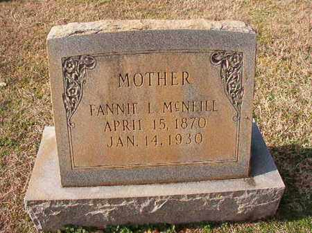 MCNEILL, FANNIE L - Dallas County, Arkansas | FANNIE L MCNEILL - Arkansas Gravestone Photos