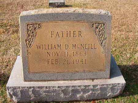 MCNEILL, WILLIAM D - Dallas County, Arkansas | WILLIAM D MCNEILL - Arkansas Gravestone Photos