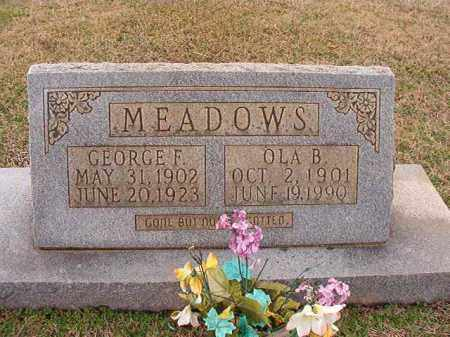 MEADOWS, GEORGE F - Dallas County, Arkansas | GEORGE F MEADOWS - Arkansas Gravestone Photos
