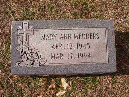 MEDDERS, MARY ANN - Dallas County, Arkansas | MARY ANN MEDDERS - Arkansas Gravestone Photos