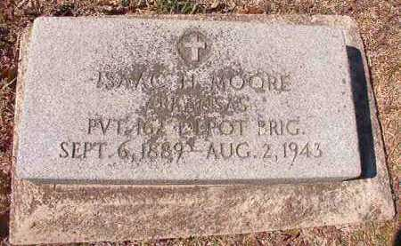 MOORE, (VETERAN), ISAAC H - Dallas County, Arkansas | ISAAC H MOORE, (VETERAN) - Arkansas Gravestone Photos
