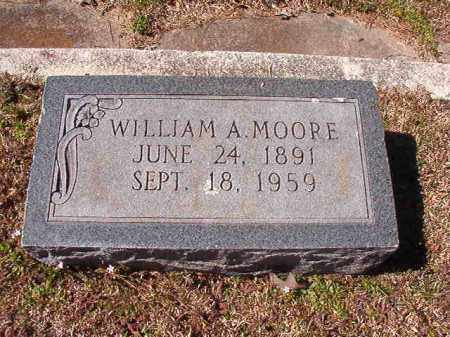 MOORE, WILLIAM A - Dallas County, Arkansas | WILLIAM A MOORE - Arkansas Gravestone Photos