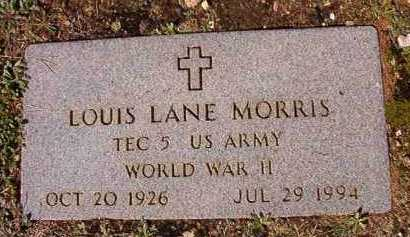 MORRIS (VETERAN WWII), LOUIS LANE - Dallas County, Arkansas | LOUIS LANE MORRIS (VETERAN WWII) - Arkansas Gravestone Photos