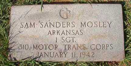 MOSLEY (VETERAN), SAM SANDERS - Dallas County, Arkansas | SAM SANDERS MOSLEY (VETERAN) - Arkansas Gravestone Photos