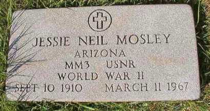 MOSLEY (VETERAN WWII), JESSIE NEIL - Dallas County, Arkansas | JESSIE NEIL MOSLEY (VETERAN WWII) - Arkansas Gravestone Photos