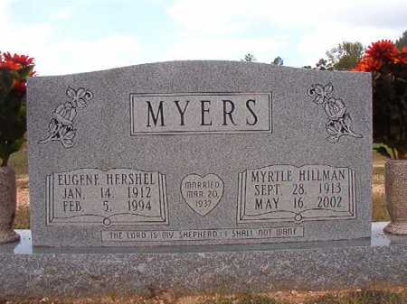 HILLMAN MYERS, MYRTLE - Dallas County, Arkansas | MYRTLE HILLMAN MYERS - Arkansas Gravestone Photos