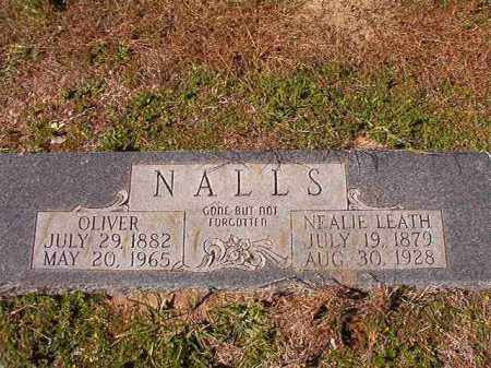 LEATH NALLS, NEALIE - Dallas County, Arkansas | NEALIE LEATH NALLS - Arkansas Gravestone Photos