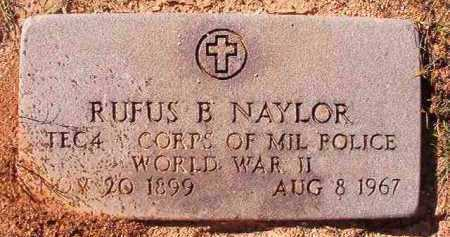 NAYLOR (VETERAN WWII), RUFUS B - Dallas County, Arkansas | RUFUS B NAYLOR (VETERAN WWII) - Arkansas Gravestone Photos
