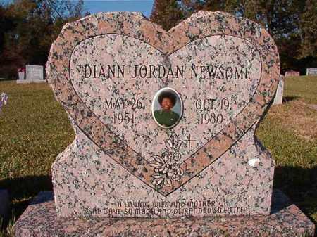 JORDAN NEWSOME, DIANN - Dallas County, Arkansas | DIANN JORDAN NEWSOME - Arkansas Gravestone Photos