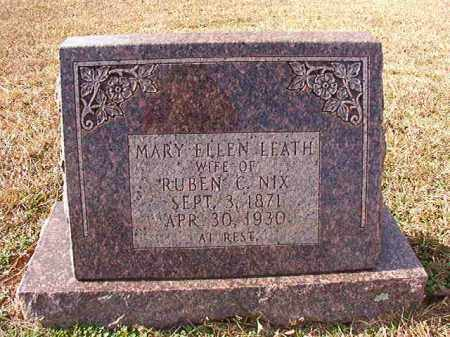 LEATH NIX, MARY ELLEN - Dallas County, Arkansas | MARY ELLEN LEATH NIX - Arkansas Gravestone Photos