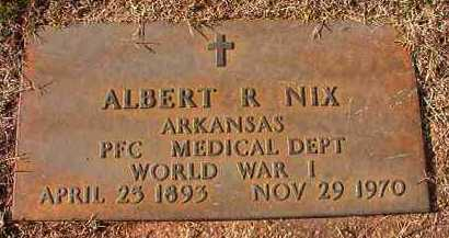 NIX (VETERAN WWI), ALBERT R - Dallas County, Arkansas | ALBERT R NIX (VETERAN WWI) - Arkansas Gravestone Photos