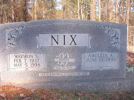 NIX, WAYMON S - Dallas County, Arkansas | WAYMON S NIX - Arkansas Gravestone Photos