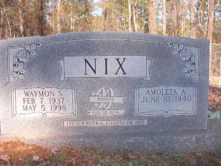 NIX, WAYMON S - Dallas County, Arkansas | WAYMON S NIX - Arkansas Gravestone Photos